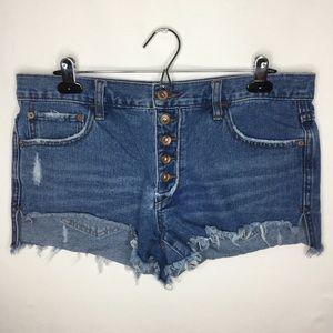Free people cut off distressed denim jean shorts